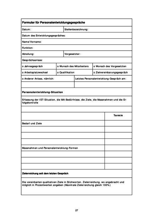 Schön Personalentwicklungsplan Vorlage Galerie - Entry Level Resume ...