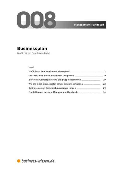 business plan schreiben anleitung zum