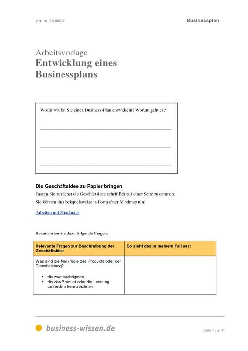 businessplan download business