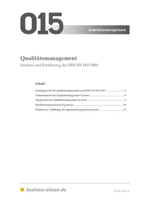 qualit tsmanagement iso 9001 download business