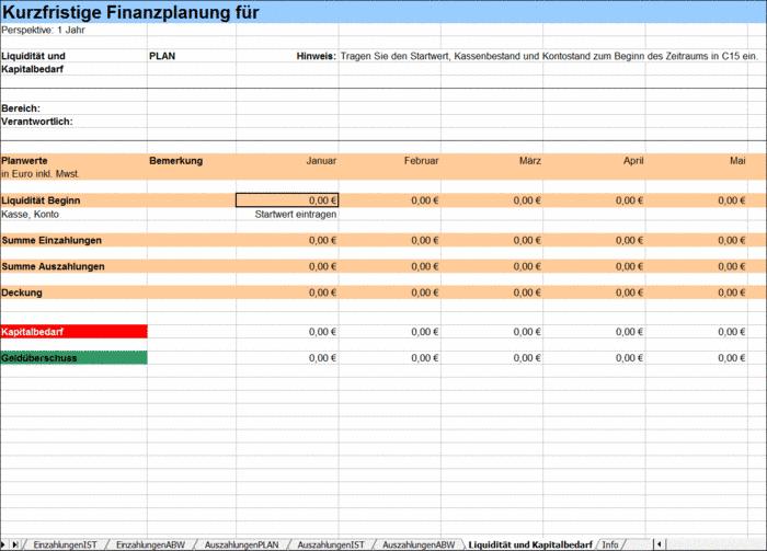 vorschau - Finanzplan Beispiel