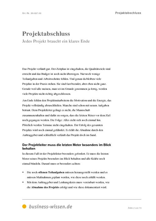 projektabschluss download business