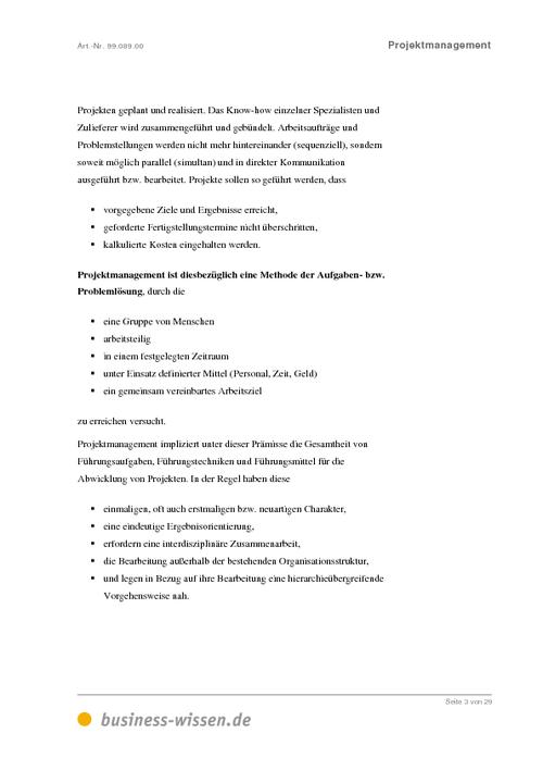 Erfolgreiches Projektmanagement 5. Fallstudie Antworten