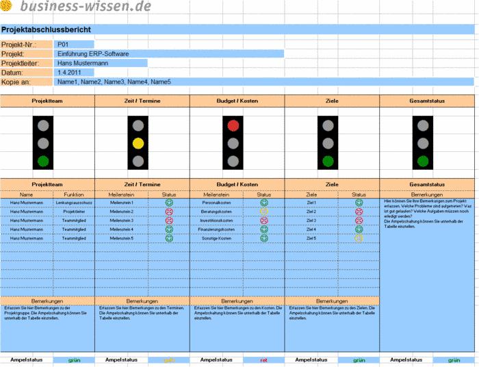 projektabschlussbericht ergebnisse und bewertung in der