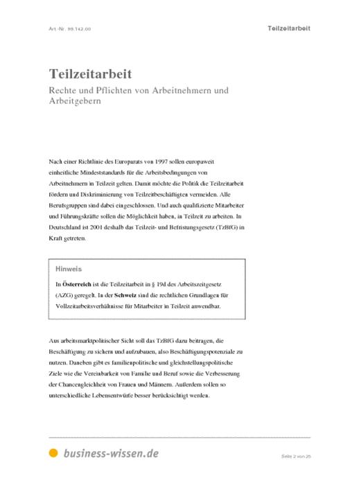 vorschau - Antrag Teilzeit Muster