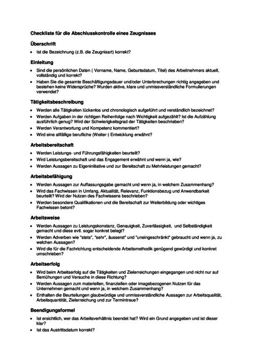 arbeitszeugnisse schreiben mit formularen und checklisten