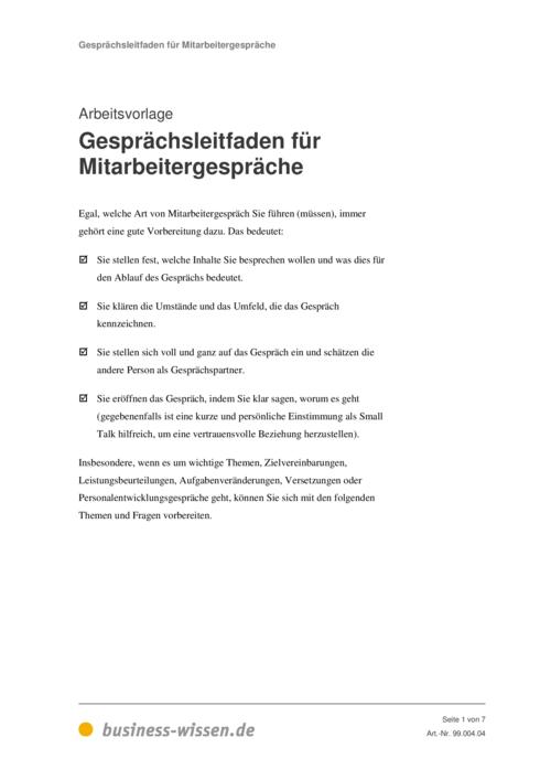 leistungsbeurteilung - management-handbuch - business-wissen.de