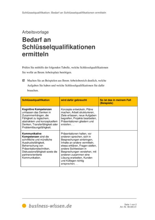 vorschau schlsselqualifikationen - Schlusselqualifikationen Beispiele