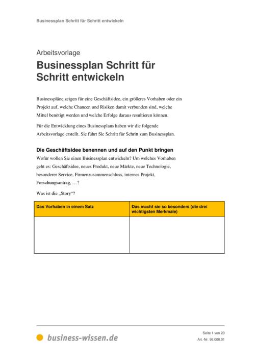 Businessplan – Management-Handbuch – business-wissen.de