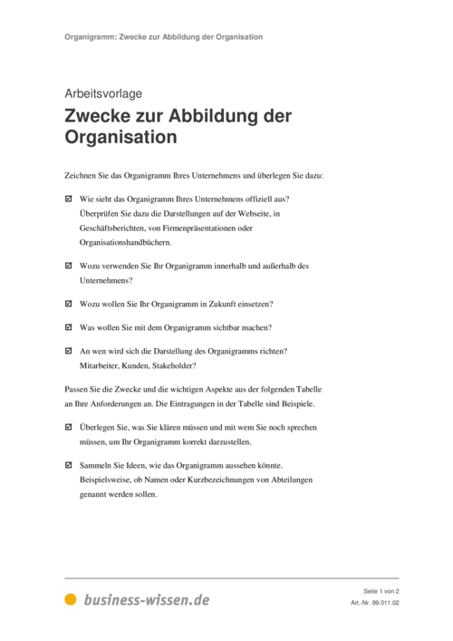 Organigramm erstellen – Kapitel 011 – business-wissen.de