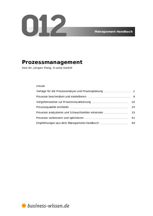 Prozessmanagement – Management-Handbuch – business-wissen.de