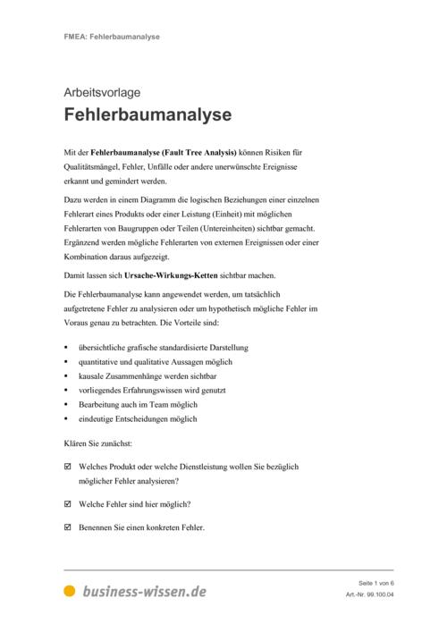 Fehler-Möglichkeiten- und Fehler-Einfluss-Analyse (FMEA) – Kapitel ...