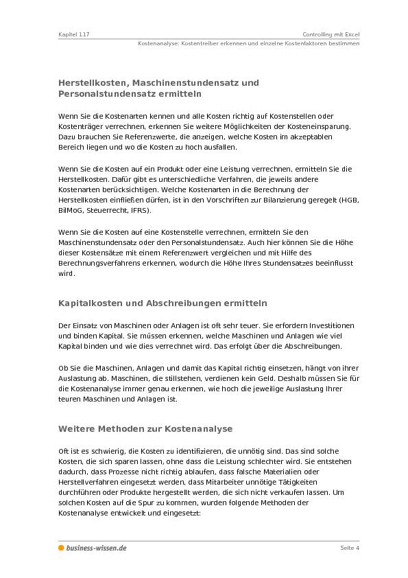 Controlling mit Excel – Management-Handbuch – business-wissen.de
