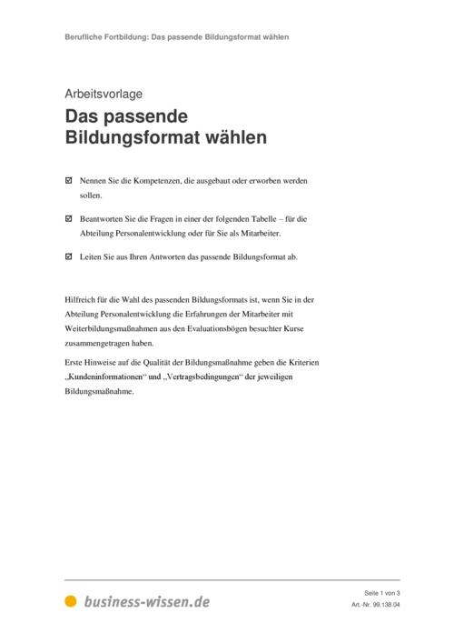 Berufliche Fortbildung und Weiterbildung – Kapitel 138 – business ...