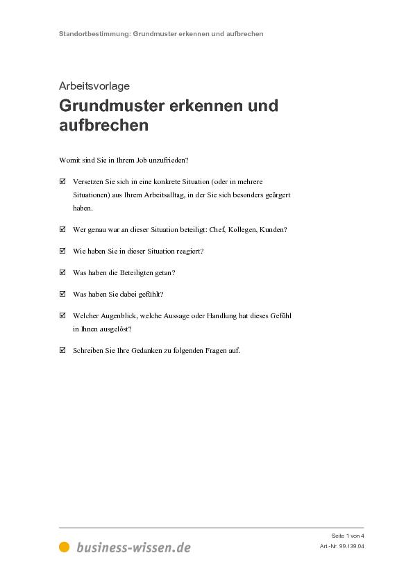 Berufliche Und Persönliche Standortbestimmung Management Handbuch