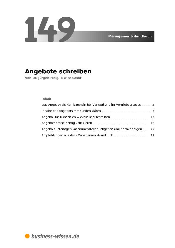 Angebote Schreiben Kapitel 149 Business Wissende