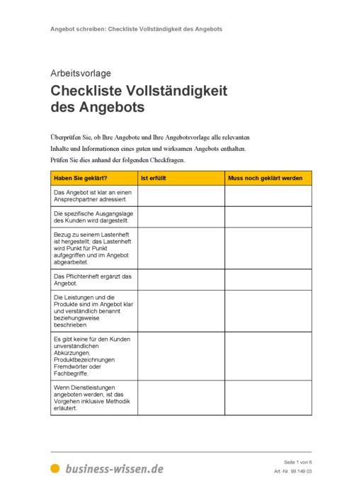 Angebote Schreiben Management Handbuch Business Wissende