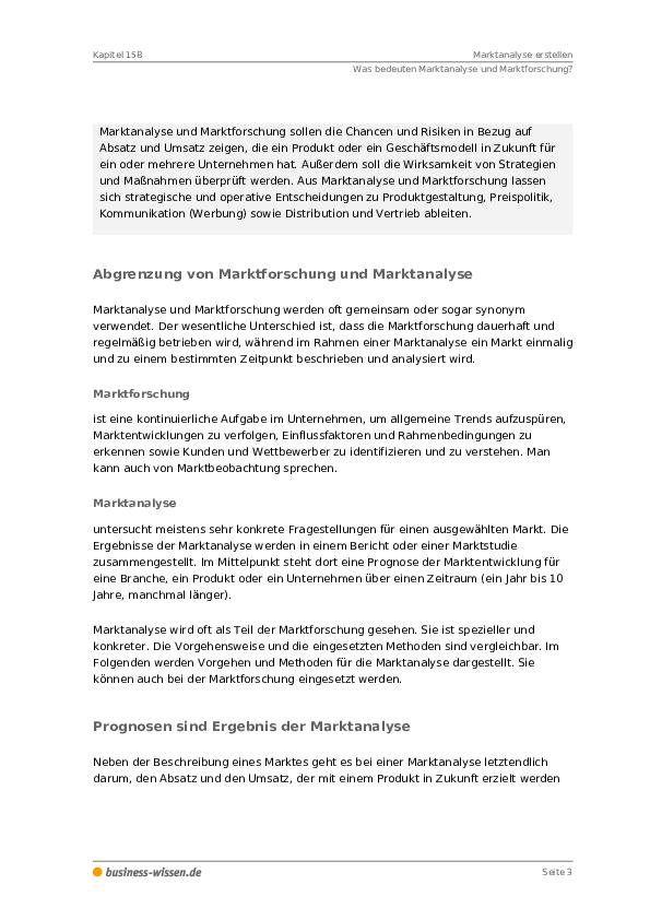 Marktanalyse Erstellen Management Handbuch Business Wissende