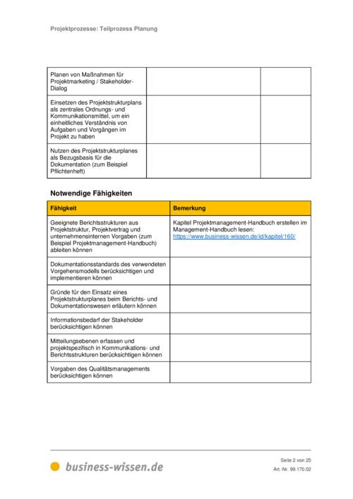 Projektprozesse Kapitel 170 Business Wissende