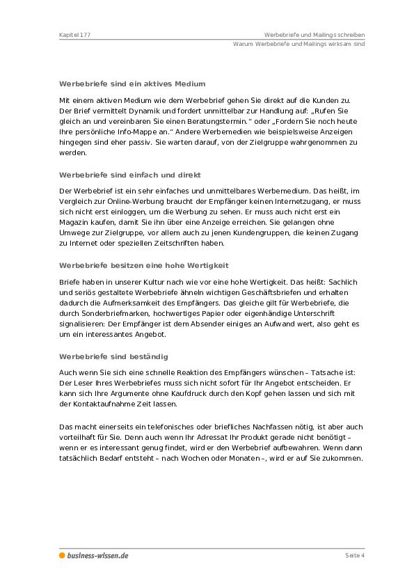 Werbebriefe Und Mailings Schreiben Kapitel 177 Business Wissende