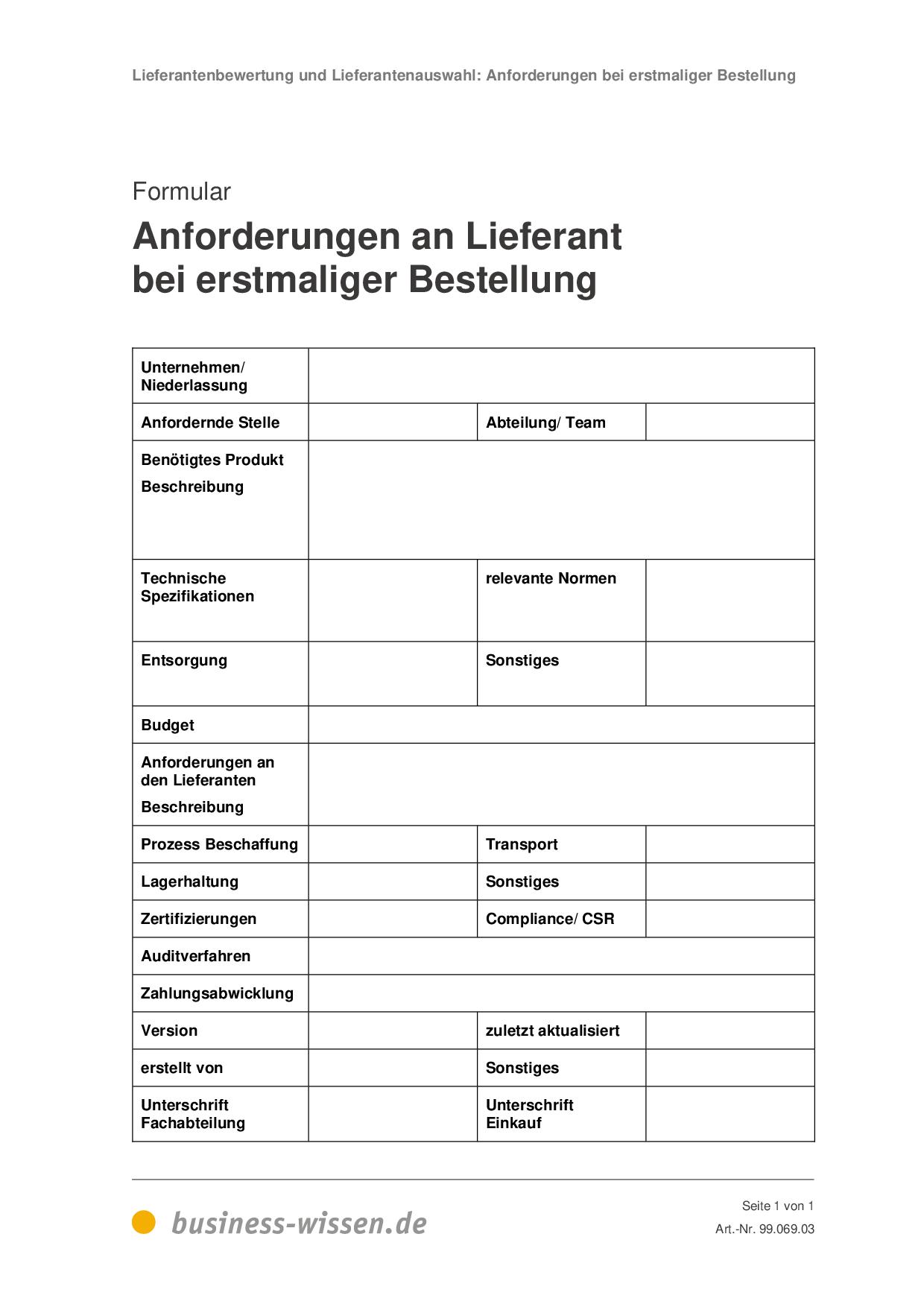 Lieferantenauswahl Kriterien Lieferantenbewertung Iso 9001 5 11