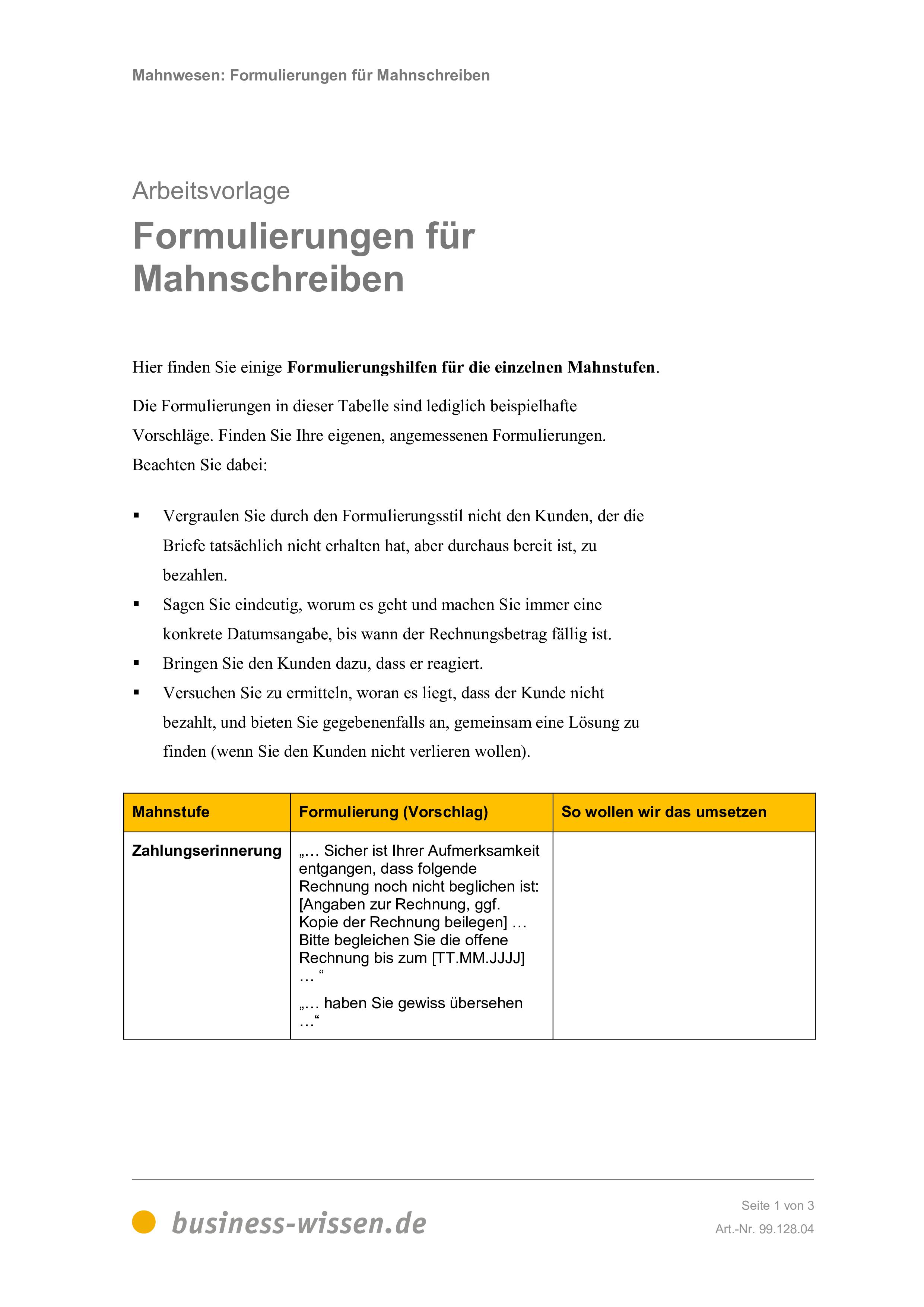 mahnwesen management handbuch business. Black Bedroom Furniture Sets. Home Design Ideas
