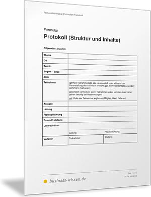 protokoll simultan schreiben formular und vorlage - Gesprachsprotokoll Muster