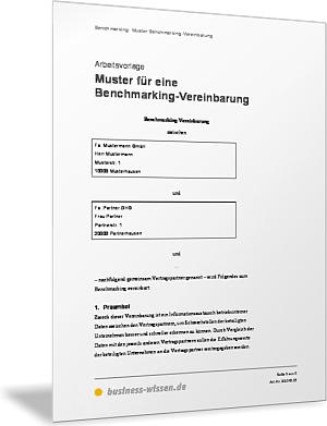 Muster Für Eine Benchmarking Vereinbarung Vorlage Business Wissende