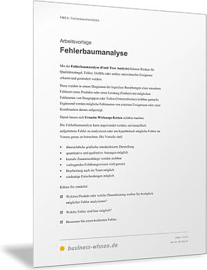 FMEA-Fehlerbaumanalyse – Vorlage – business-wissen.de