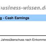 berechnung cash earnings excel tabelle business. Black Bedroom Furniture Sets. Home Design Ideas
