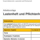 Lastenheft und Pflichtenheft - Vorlage - business-wissen.de