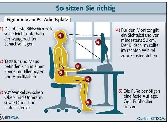 Arbeitsplatz: 7 Tipps für einen ergonomischen PC