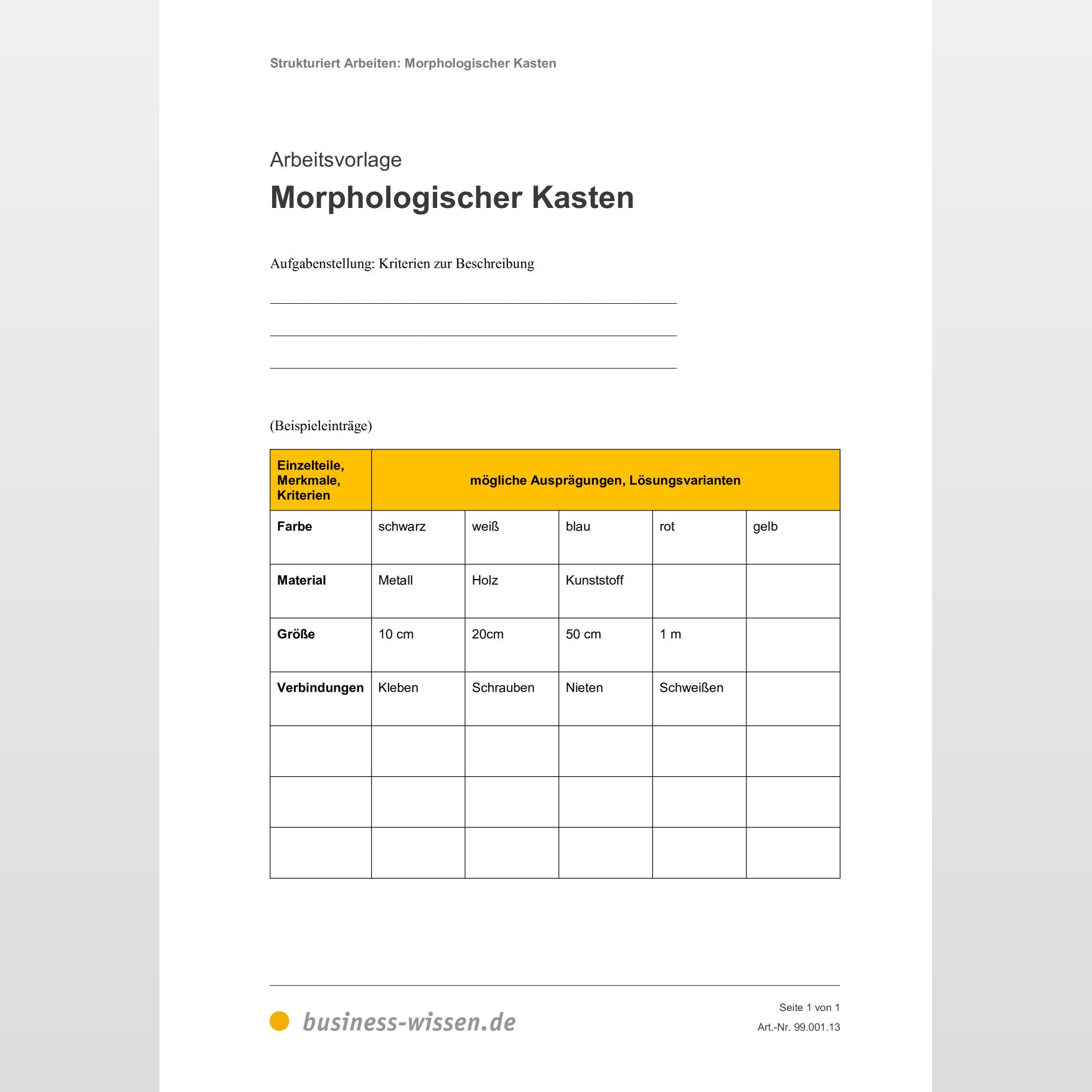 Linienprofil Morphologischer Kasten Office Loesung De