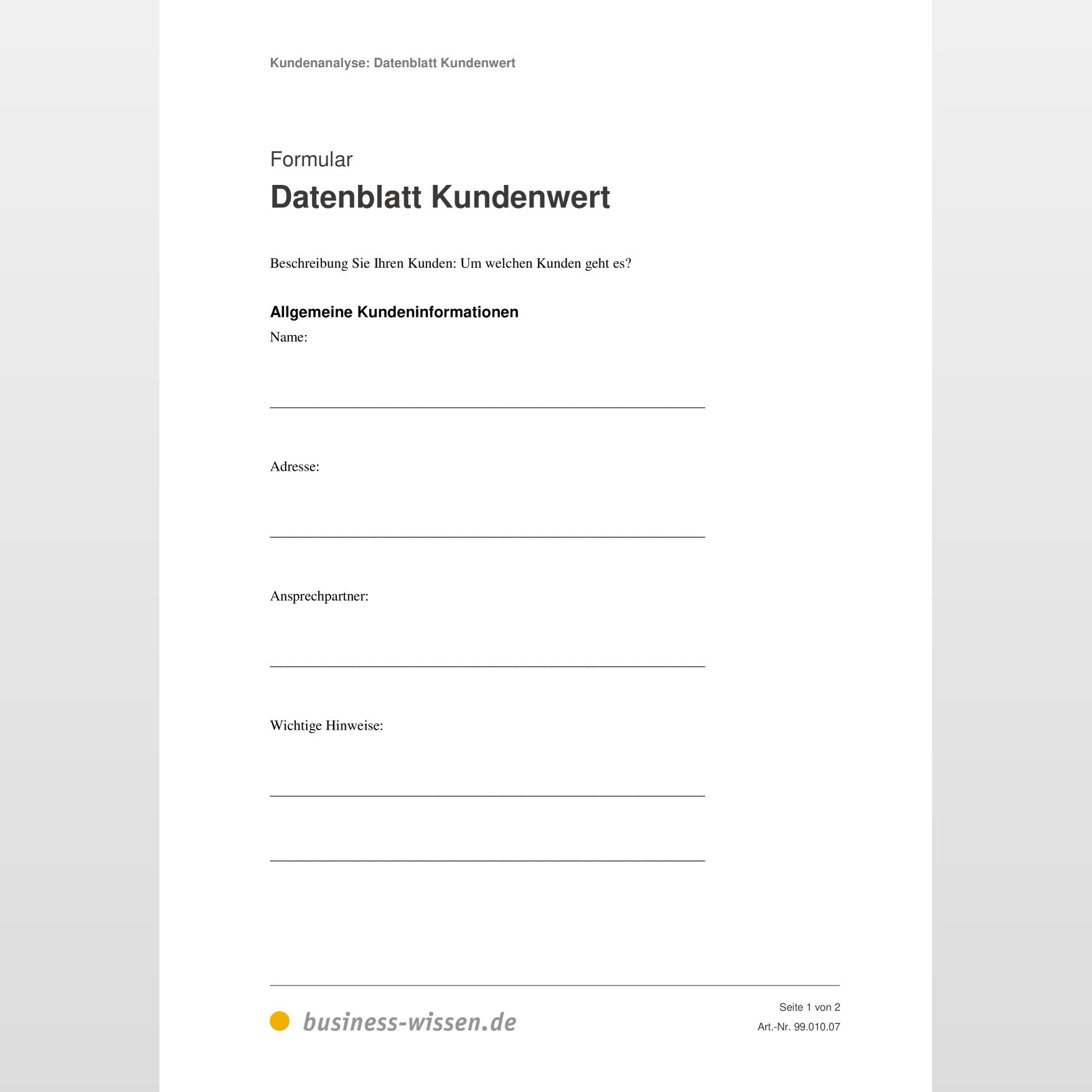 Technisches Datenblatt Page 1