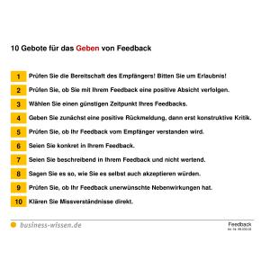 10299e2aa1 Checkliste: 10 Gebote für das Geben von Feedback – Checkliste ...