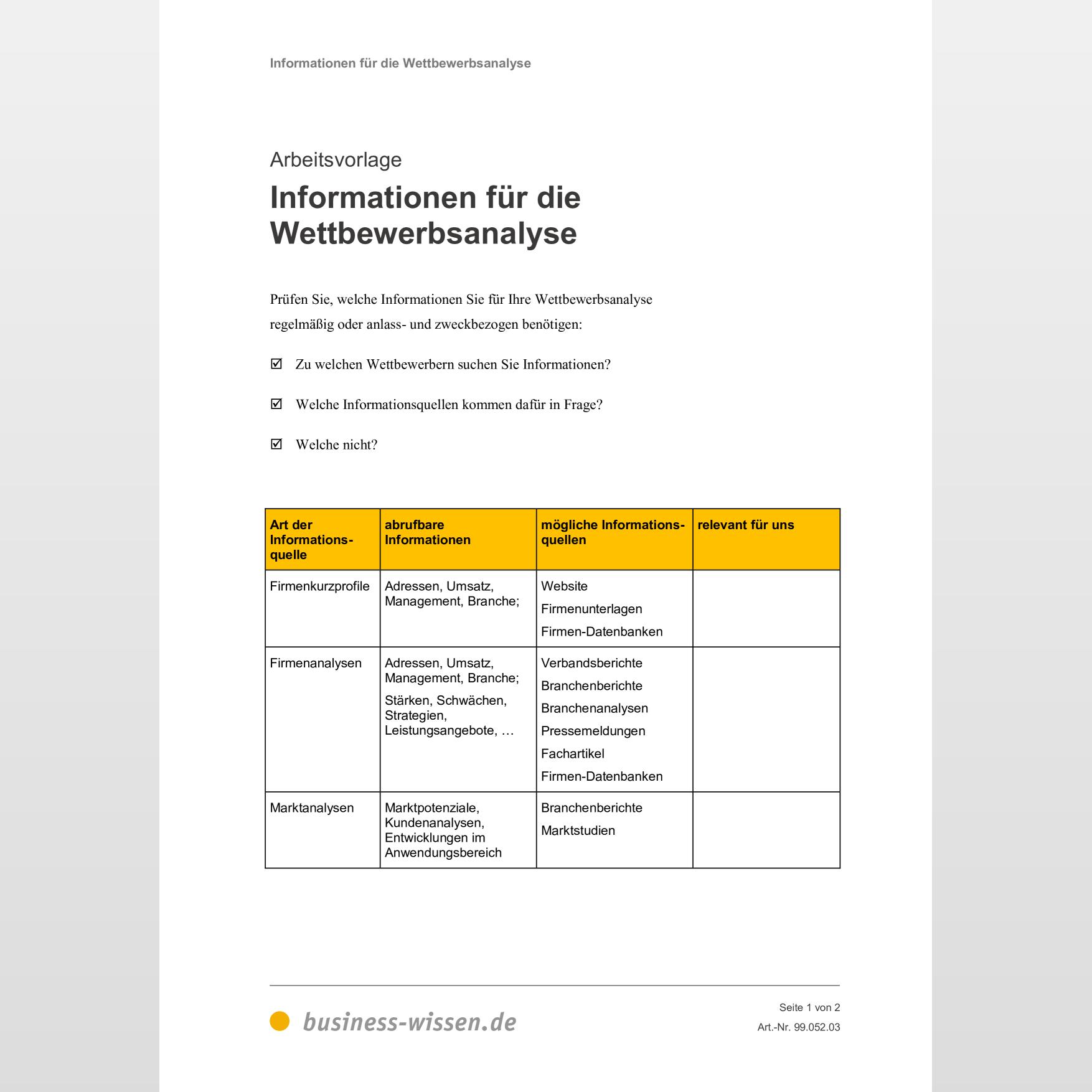 5 Grafiken Und Vorlagen Fur Wettbewerbsanalyse 9