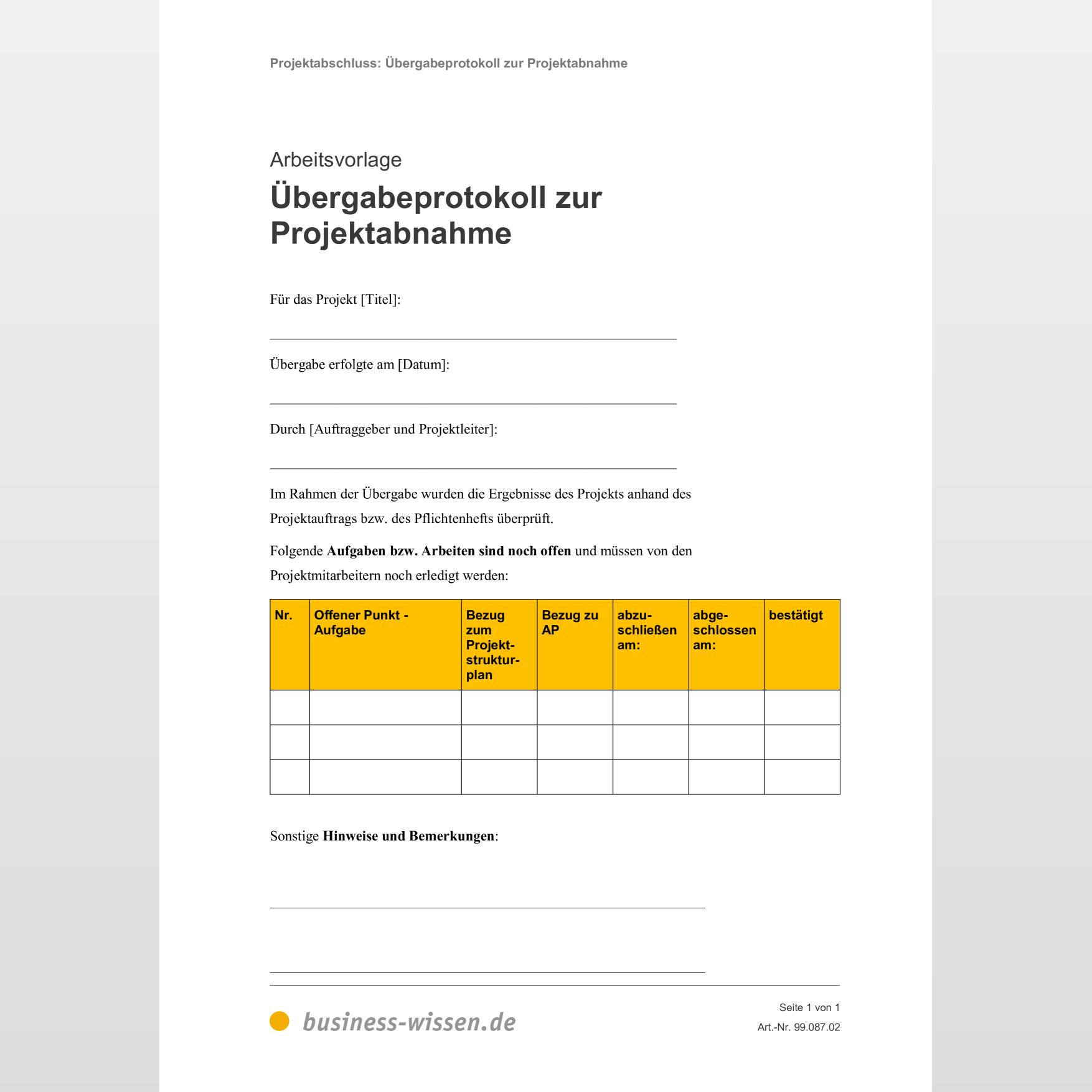 Schlusselubergabeprotokoll 742 Downloads Vorlagen De