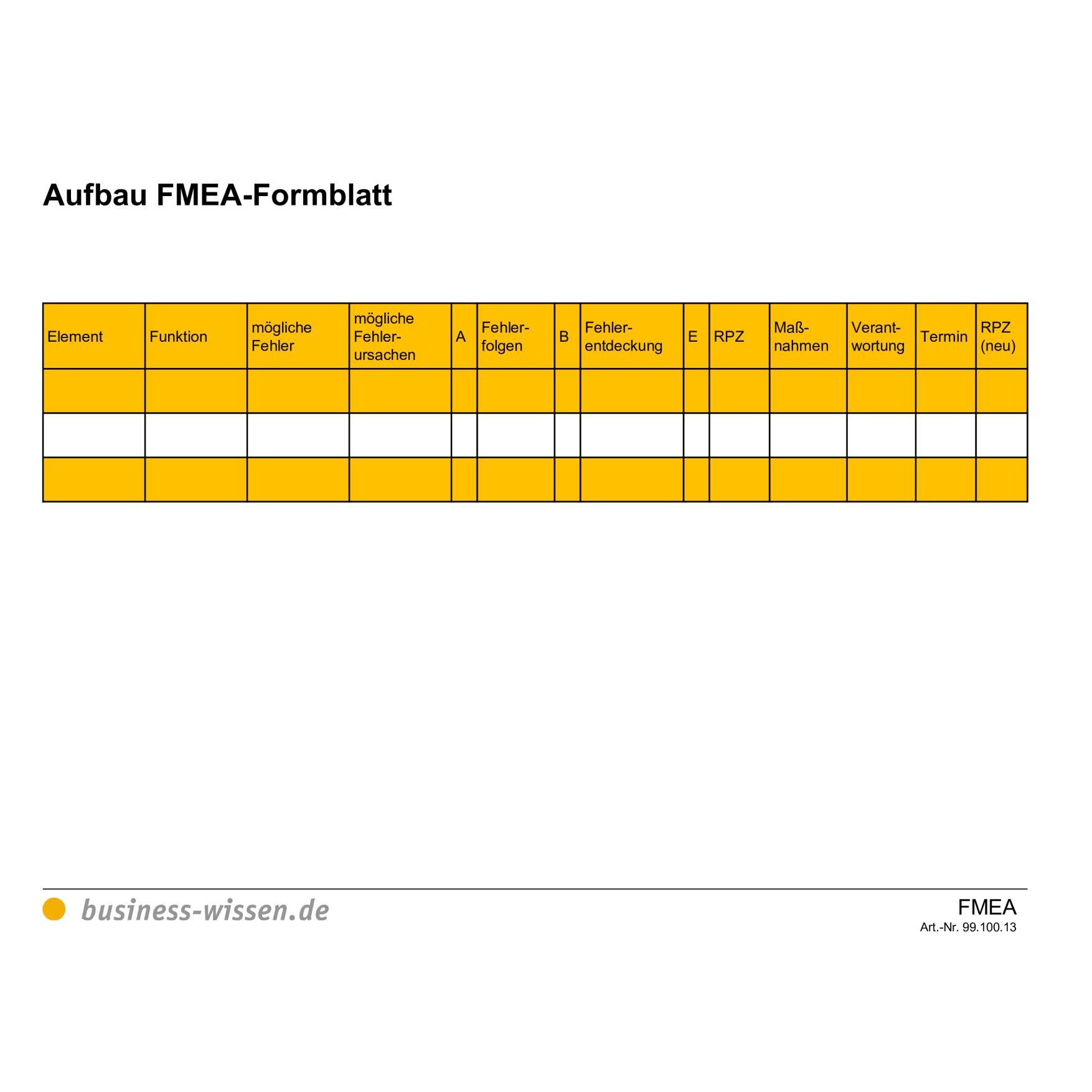 Fmea Formblatt Fmea Wiki 12